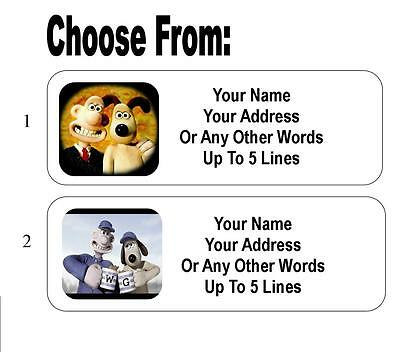 30 Wallace and Gromit Personalized Address Labels