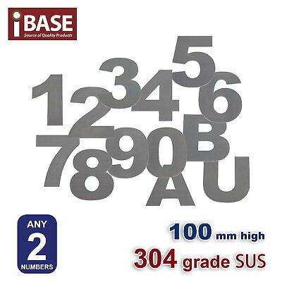 2X 100 Mm House Number Letter Mail Box Numbers Letters 304 Stainless Steel