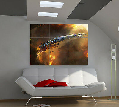 "Mass Effect Giant Wall Poster Big Art Print 39""x57""px16"