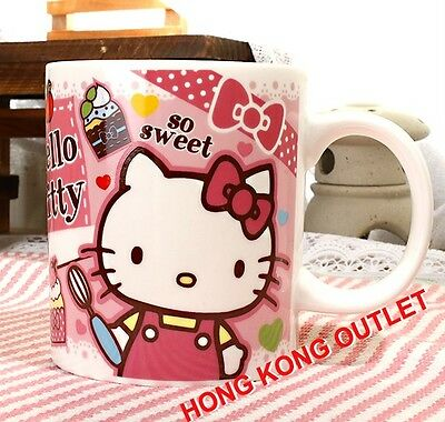 Hello Kitty Ice Cream Ceramic Cup Mug Original Japan Sanrio   B61b