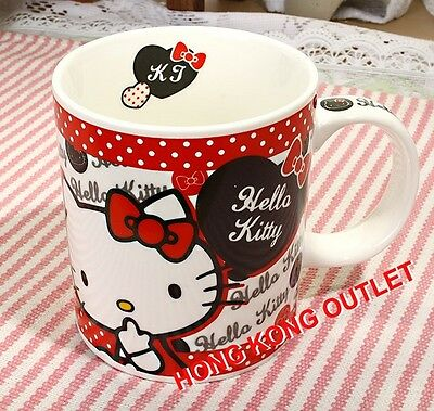 Hello Kitty Ceramic Cup Mug Original Japan Sanrio   J17a