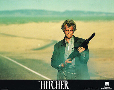 The Hitcher Original 11X14 Lobby Card Rutger Hauer With Shotgun