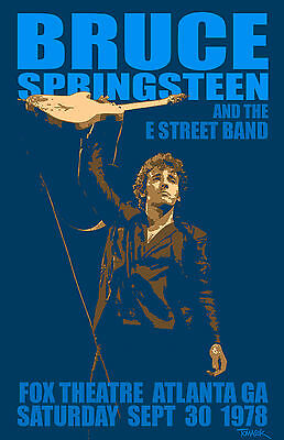 Bruce Springsteen and The E Street Band 1978 Tour Poster