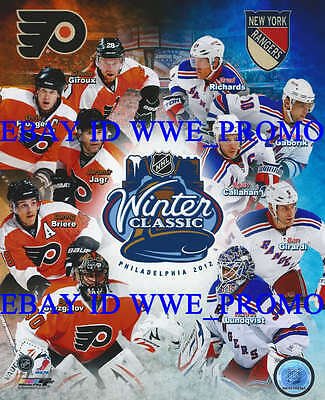 2012 NHL Winter Classic Philadelphia Flyer NY Rangers NHL Hockey 8x10 PHOTO