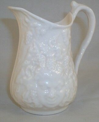 Belleek MASK Creamer No Luster From Ireland GREAT CONDITION green backstamp