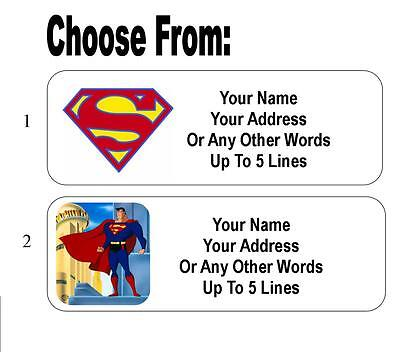 30 Superman Personalized Address Labels
