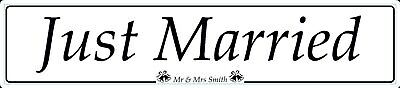 Just Married Personlised Novelty Wedding Car Number Plates Gift Lover