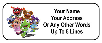 30 Muppet Babies Personalized Address Labels