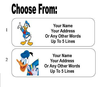 30 Donald Duck Personalized Address Labels