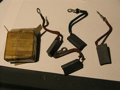 National Carbon co. Power unit  brushes box of 4 ea Generator nos AC 1940/50's