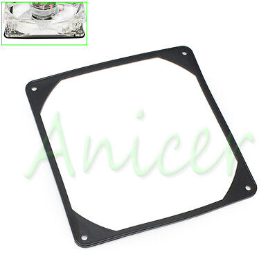 140mm PC Case Fan Silicone Anti-vibration Gasket Shock Absorption Pad Black