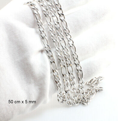 18k White Gold Filled Figaro Chain - 60 cm x 6 mm-Wholesale Price