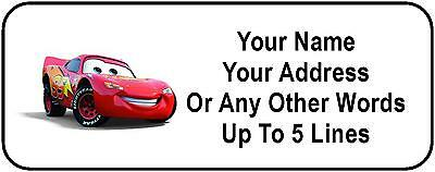 30 Lightning McQueen Personalized Address Labels
