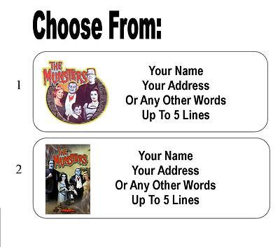 30 Munsters Personalized Address Labels