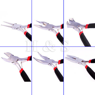 Jewellery Making Mini Pliers Round Long Bent Nose Side End Cutter Beading Tools