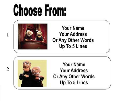 30 Statler and Waldorf Personalized Address Labels