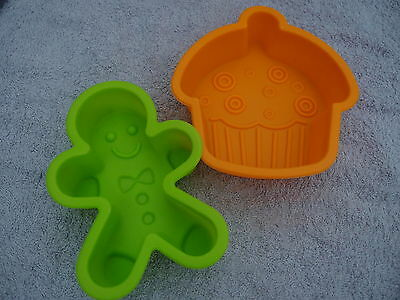 CUTE Silicon Moulds for Soap / Candle Making * Gingerbread Man * Cupcake * Teddy