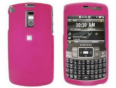 Rubberized Solid Case Hot Pink For Samsung Jack i637