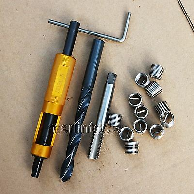 M12 x 1.5 Thread Repair Kit Tap and Drill bit Helicoil Insert Insertion tool