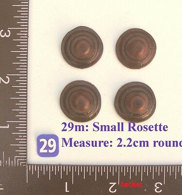 "TITLE: 29M ""4 Circular badges"" clock case / furniture DIY"