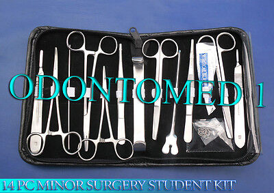 14 Pcs Minor Surgery Student Kit Surgical Dental Forceps