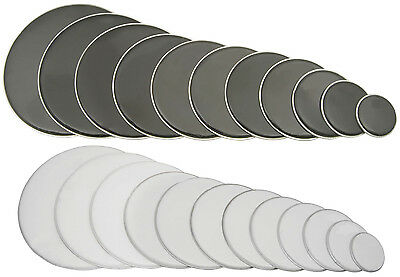 Drum Head Skin Skins Black Or White - All Sizes - Snare Or Toms - Mix & Match!