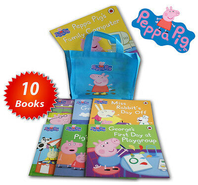 Peppa Pig Family Collection 10 Books Set Sleepover, Camping, Football, Playgroup