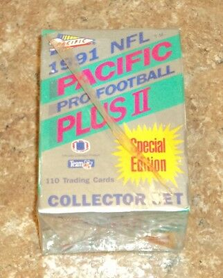 1991 PACIFIC NFL PRO FOOTBALL PLUS II / NEW SEALED / SPECIAL EDITION