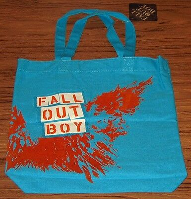 FALL OUT BOY TOTE BAG Purse Light Blue Authentic Licensed NEW