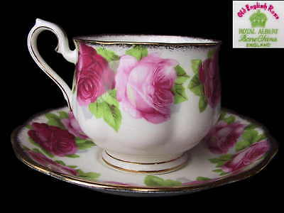 Royal Albert OLD ENGLISH ROSE Hampton Tea Cup & Saucer  Eng c1935