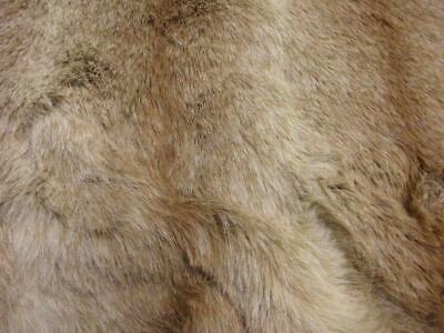LUXURY Animal Faux Fur Fabric Material BROWN OMBRE