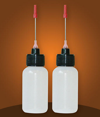 Two 1 OZ bottles with needle tip dispenser, pharmaceutical grade quality!!!!