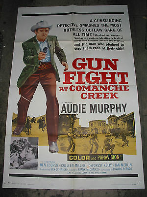 Gunfight At Comanche Creek / Original U.s. One-Sheet Movie Poster (Audie Murphy)