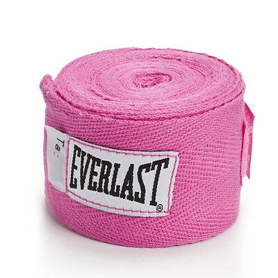 """Everlast Boxing MMA Hand Wrap Bandages Wrist Support 108"""" / 274cm - Pink"""