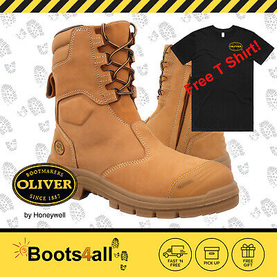 New Oliver Men's Work Safety Boots Steel Toe ZIP High Leg Mining Shoes 55385