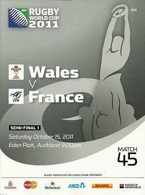 2011 RUGBY WORLD CUP SEMI-FINAL - WALES v FRANCE