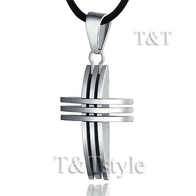 T&T Stainless Steel Cross Pendant Necklace Small (CP34)
