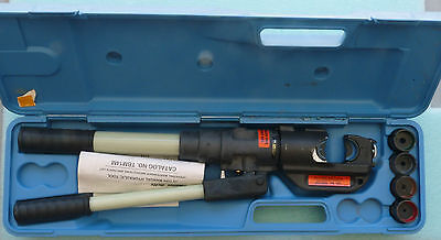 New Thomas & Betts Tbm14M Manual Hydraulic Crimping Tool 14 Ton W/ Case And Dies