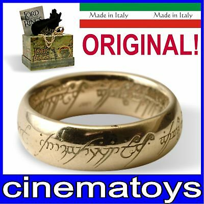 LORD OF THE RINGS ONE RING OF POWER GOLD PLATED 21 mm ORIGINAL NEW LINE WITH COA