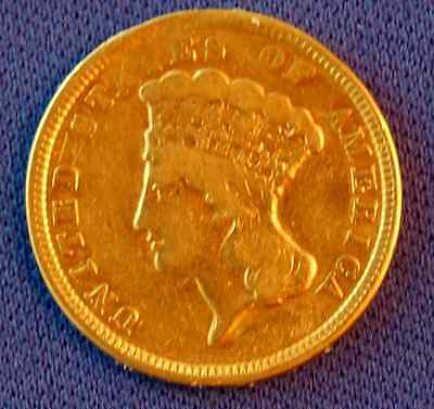 1854 $3 Indian Princess Gold Coin - Priced To Sell