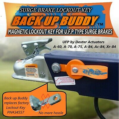 "Magnetic Lock Out Key For ...u.f.p...type Surge Brakes ""back Up Buddy"""
