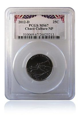 PCGS MS67 2012-D Chaco Culture National Park Quarter Bunting Insert Gem