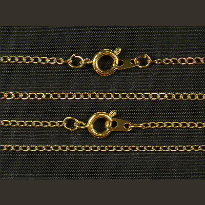 """100 x Gold Plated Fine Metal Necklace Curb Chains 16"""" or 18"""""""