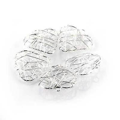 """5 Heart Silver Plated Wire Wrapped Pendant 1.22"""" HOT High Quality"""