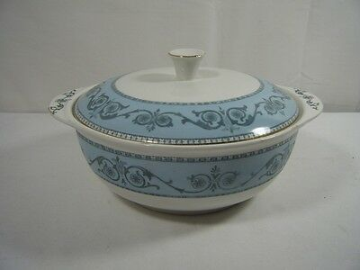 "Burgess & Leigh ""Burleighware""  Windsor Tureen Blues & Greys With Lid*"