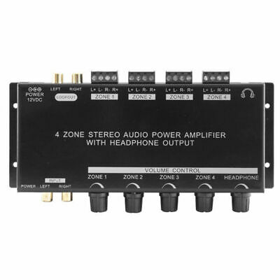 KGE1300 4 Zone Stereo Audio Volume control Power Amplifier With Headphone Output