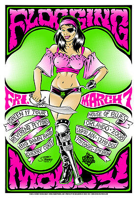 Flogging Molly - House Of Blues - Orlando - 2008 - Tour Poster - Stainboy