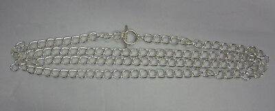 1 Metre  New Chain Necklace with Toggle in Bright Silver Tone 8x11mm Links JF667