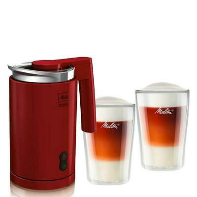 MELITTA RED Electric Milk Frother Hot & Cold Coffee Cappuccino Heater Foamer