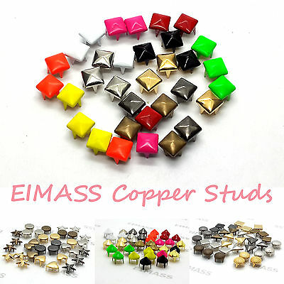 100 x Copper Studs Rivets, Leather Craft, Costumes, Bags, Belts, Shoes, 2188